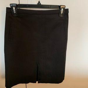 J Crew black Straight skirt. Lined. Size 2.